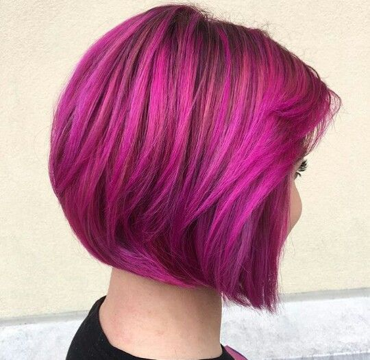 fuchsia short hair