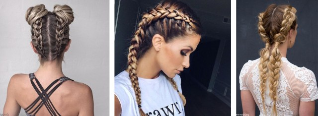 braided updos spring