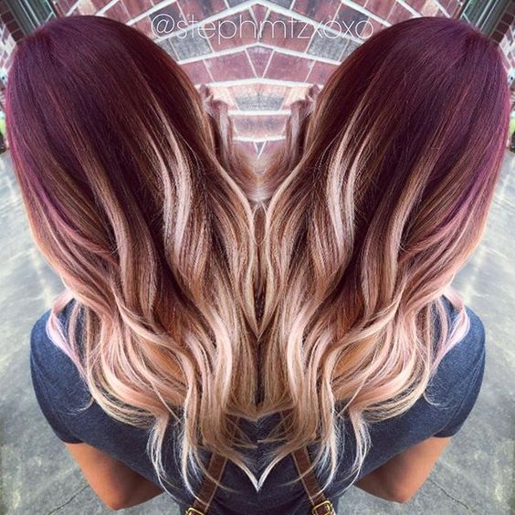 ombre hair for autumn