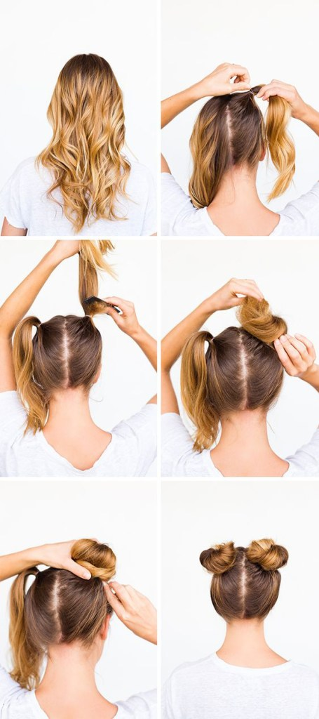 double bun tutorial