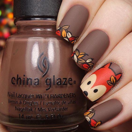 funny fox nails