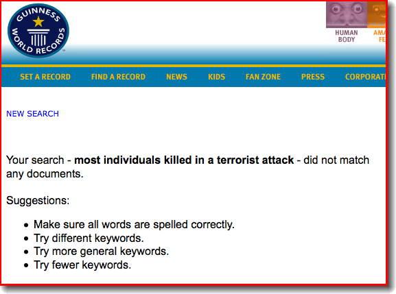 Guinness Record Terrorist Attack