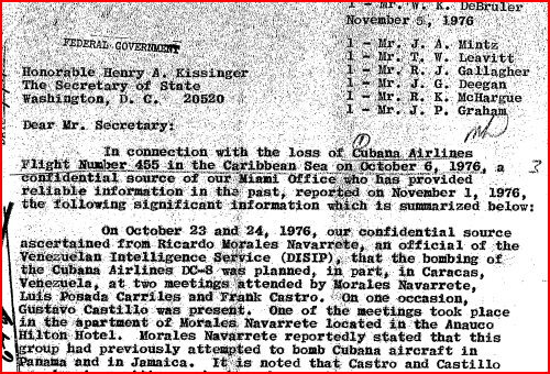 Cubana bomb Kissinger