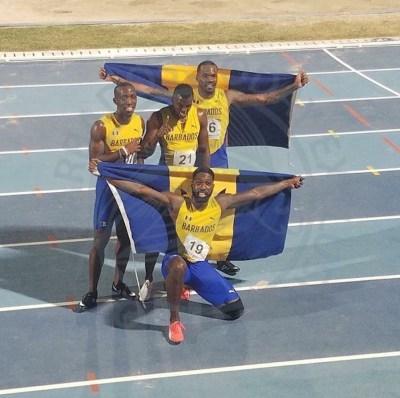 Barbados' gold-medal winning team.