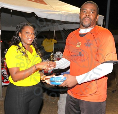 Former Barbados number one goalkeeper Morrison Taylor received the man-of-the-match award.