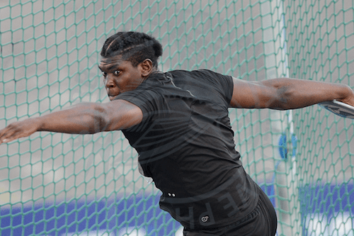 Jamaica's Fedrick Dacres won the gold medal in the discus.