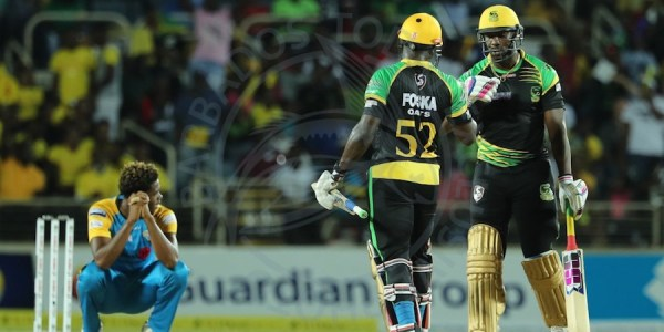 As Obed McCoy squatted and contemplated how his St Lucia Stars could possibly win a CPL game, Rovman Powell (centre) and Andre Russell inched the Tallawahs to another victory.