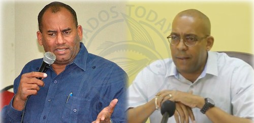 Former Minister of Tourism Richard Sealy (left) denies claims by his successor Kerrie Symmonds (right) that the island's cruise sector is in peril.