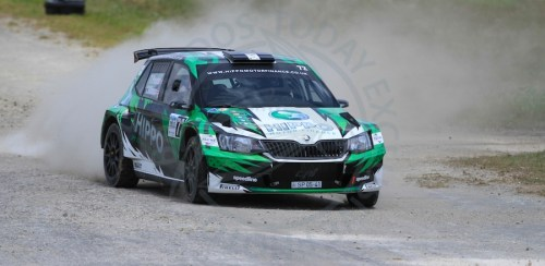 Britain's Tom Preston finished ninth overall and winner of Group A in Sol Rally Barbados 2018 in his Skoda Fabia R5.