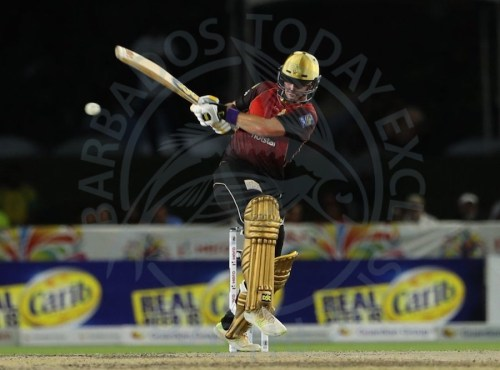 Colin Munro slams another boundary during his 90 last night.