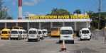 Operators on the 3D Bridgetown-Airport route went on strike this morning, claiming that the current set up placed them at a disadvantage.