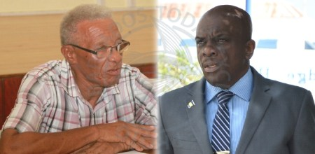MESA Chairman Grantley Osbourne and Minister in the Ministry of Housing, Lands and Rural Development Charles Griffith