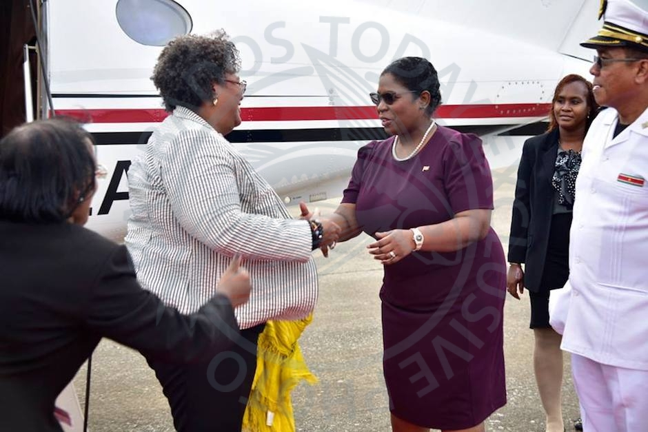 PM Mottley on official visit to Suriname