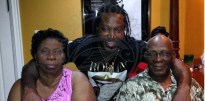 Chris Gayle with his mother Hazel and father Dudley.