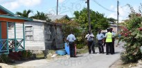 Police conducting investigations at Glendairy Road, St Michael.