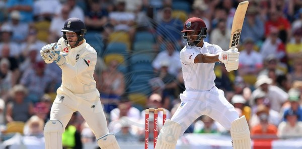 Shai Hope on the go today's during his half-century.
