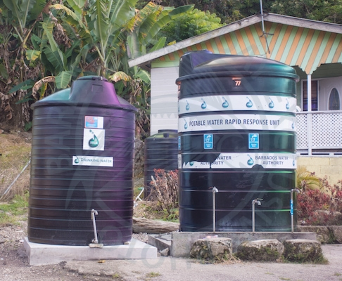 Water tanks in rural Barbados have taken the spotlight in recent months.