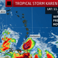 AG urges Barbadians to remain alert as Tropical Storm Karen passes island