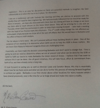 Clare Cowan writes to Chris Sinckler (3)