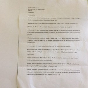 NUPW No Confidence Motion letter - part 1