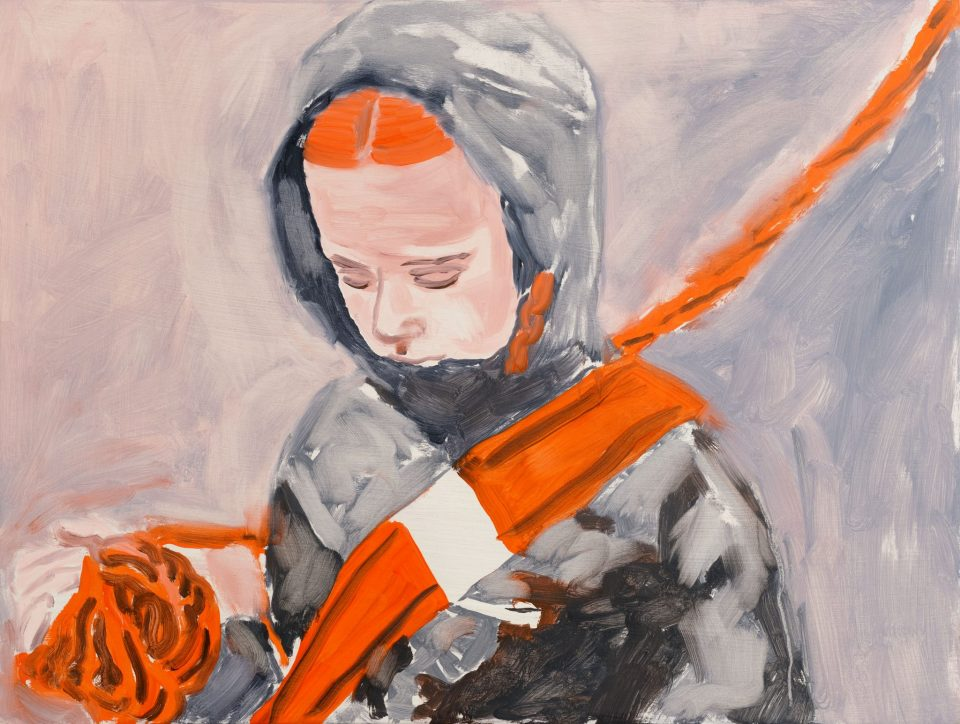 Orange Sash - Oil on Board 2014: 30x40cm