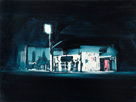 Night - Oil on board: 2014