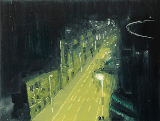 Night 2 - Oil on board: 2014