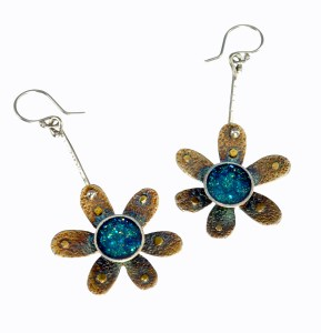 Mixed Media - Resin - Metal - Cosmos Earrings - White Background2_edited-2