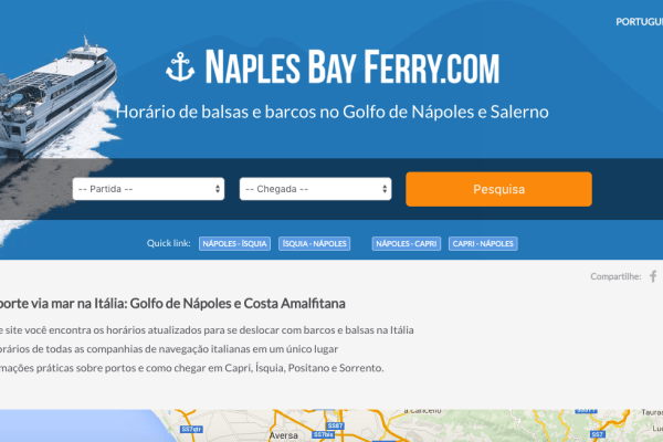 Naples Bay Ferry in Portoghese