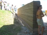 Basehabitat: rammed earth wall with Martin Rauch