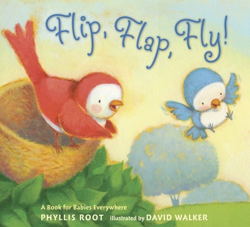 """Flip, Flap, Fly!"" by Phillis Root, illustrated by David Walker, published by Candlewick Press"