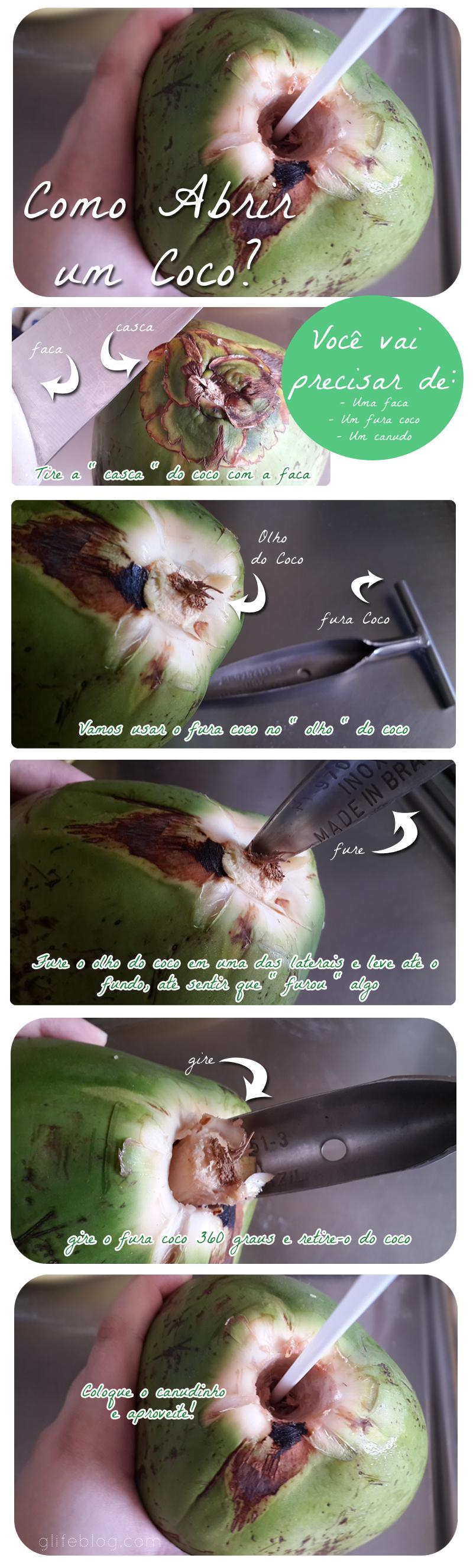 como furar coco