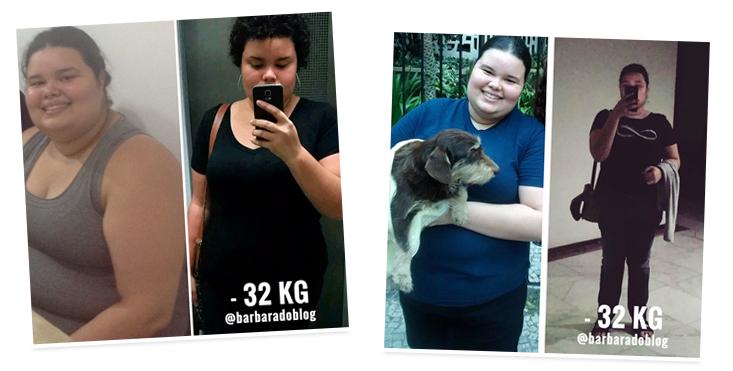 Antes e Depois Bárbara Cavalcante