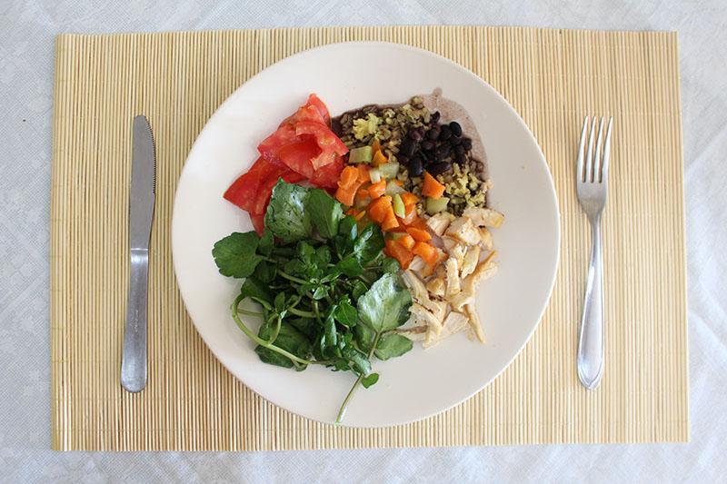 Almoço saudável e completo, nutritivo e fácil de fazer!