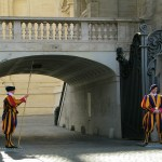 Swiss Guards stationed at the Vatican