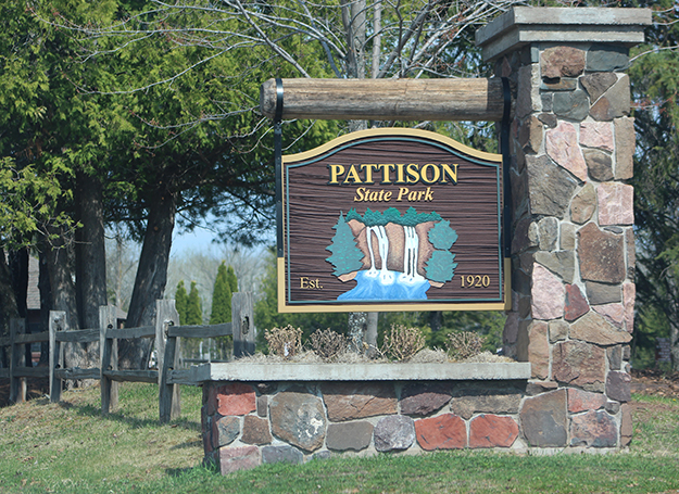 Entrance to Pattison State Park