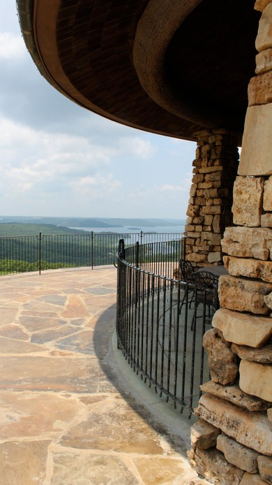 The patio at The Osage Restaurant at Top of the Rock