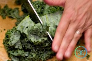 Braised Kale - Chopping Kale