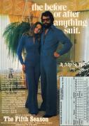Pubblicità per tute da uomo, 1970