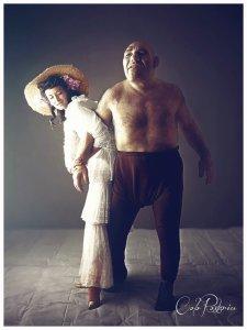 Maurice 'The French Angel' Tillet. wrestler professionista e ispiratore di Shrek, c. 1945