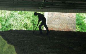 image of limekiln worker
