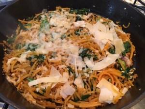 Easy Spinach Parmesan Squash Noodles