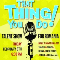 ICSV Fundraising Event Poster for Romania Mission Trip