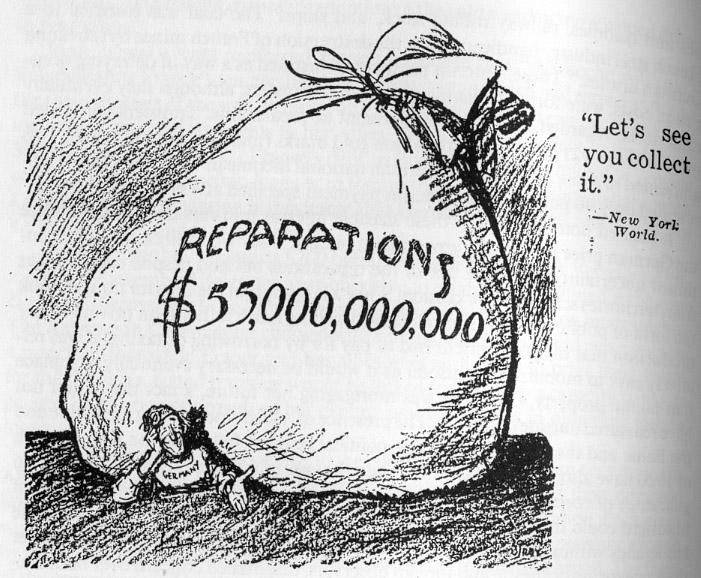 Reparations Ww1 Definition Quizlet