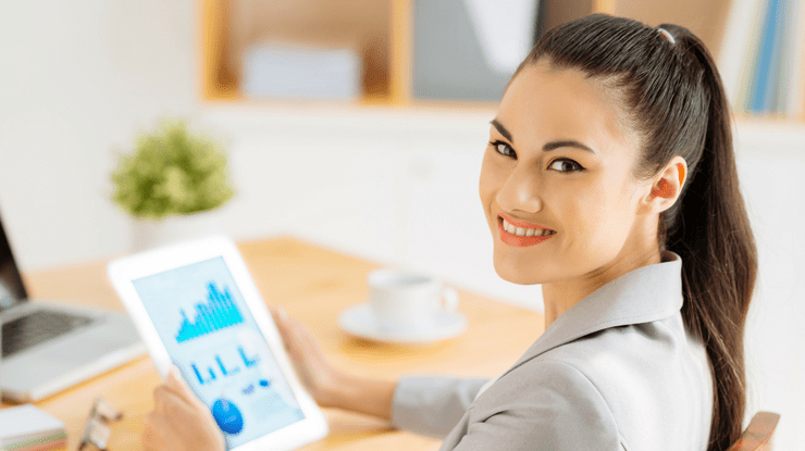 Woman with Financial Plan
