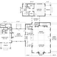 House Plan: Moser Design Group - TNH LC 11A (Coastal Living 2002 Cottage of the Year!)