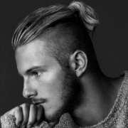 undercut hairstyle men ponytail