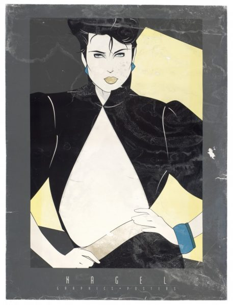Patrick Nagel, Open Jacket, Fine Art Poster, Bleach Bath, UV Exposure Time Two Weeks, 2009, digital c-print, 24 x 18 inches, 61 x 46 cm.