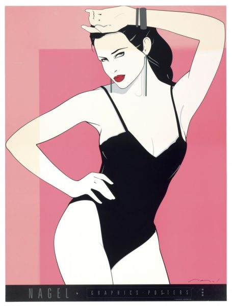 Patrick Nagel, Black Teddy, Bleach Bath, Fine Art Poster, UV Exposure Time One Weeks, 2009, digital c-print, 24 1/2 x 19 inches, 62 x 48 cm