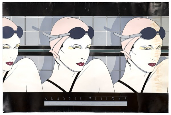 Patrick Nagel, Swimmers, Fine Art Poster, Diluted Bleach Bath, UV Exposure Time Four Weeks, 2009, digital c-print, 20 x 30 inches, 51 x 76 cm.